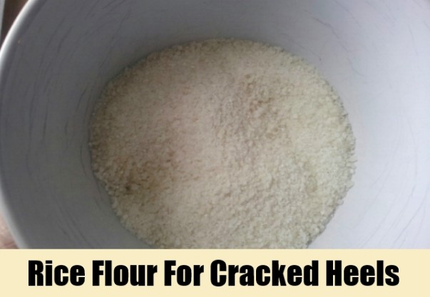 Rice Flour Scrub For Cracked Heels