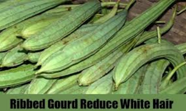 Ridged gourd To Get Rid Of White Hairs