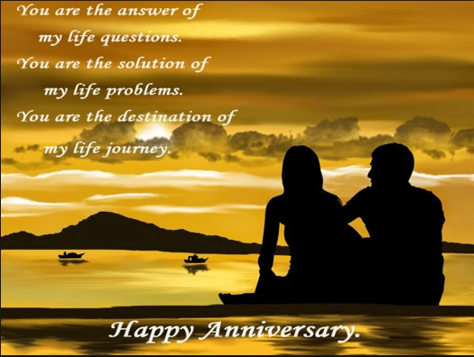 sunset happy anniversary quote with image