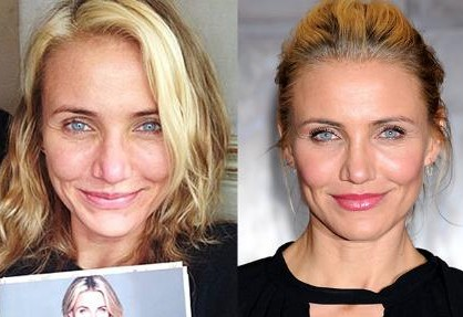 Cameron Diaz without make up