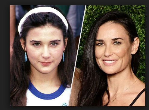 Demi Moore without make up