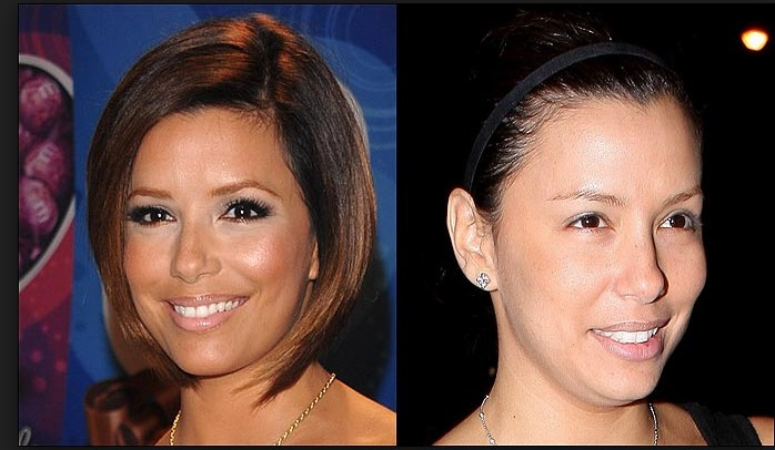 Eva Longoria without make up