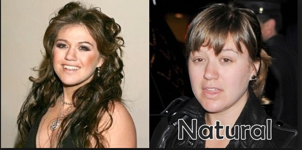 Kelly Clarkson without make up