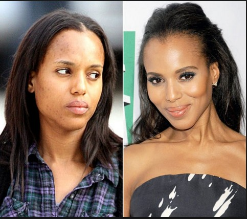 Kerry Washington without make up