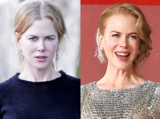 Nicole Kidman without make up