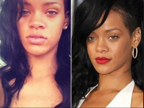 Rihanna with out make up