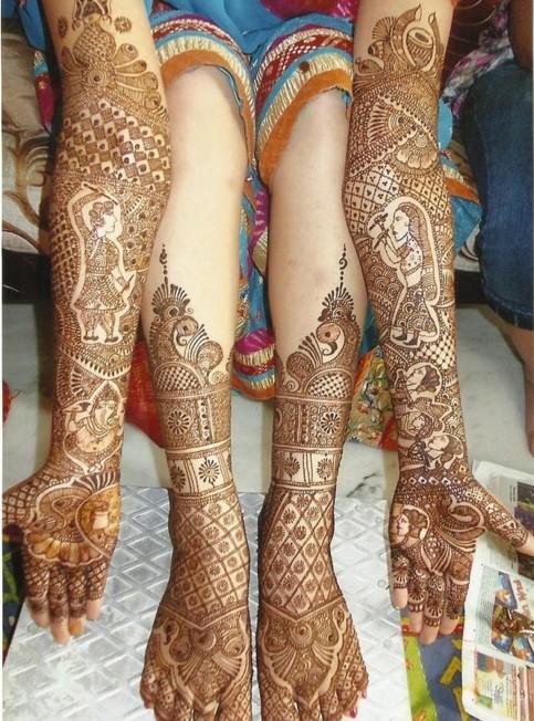 Dulhan mehndi for wedding