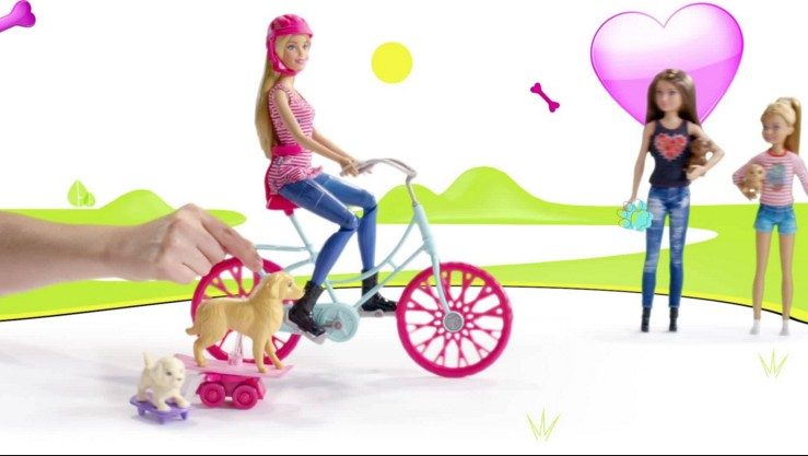 motivational barbie doll cycling hd wall paper