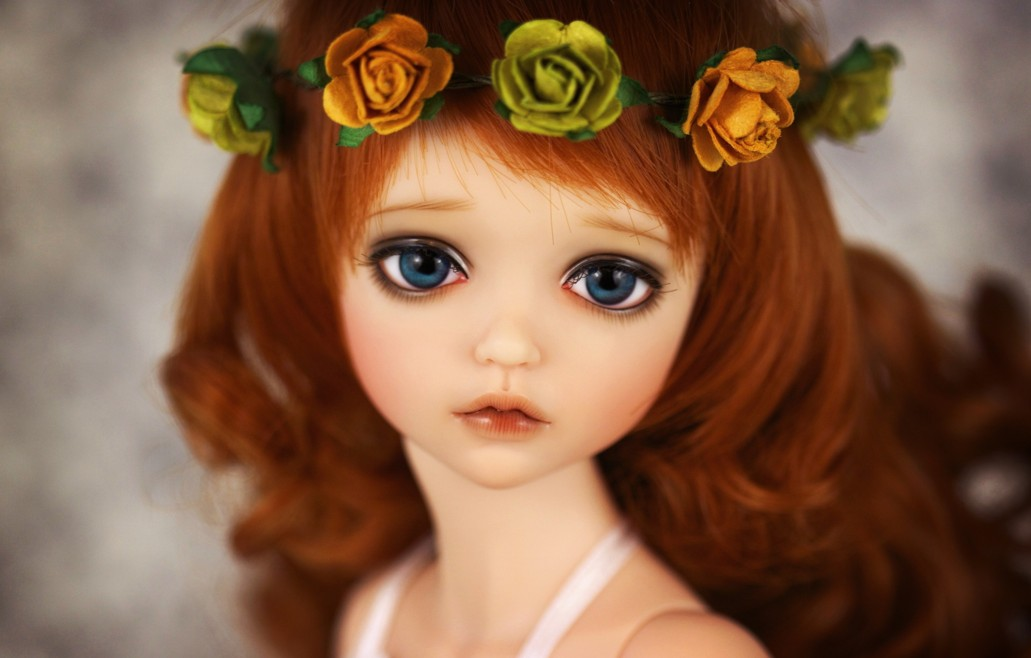 cute barbie doll image with flower crown