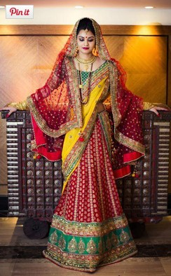 bridal lehenga for engagement