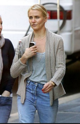 cameron diaz with out make upafter shooting