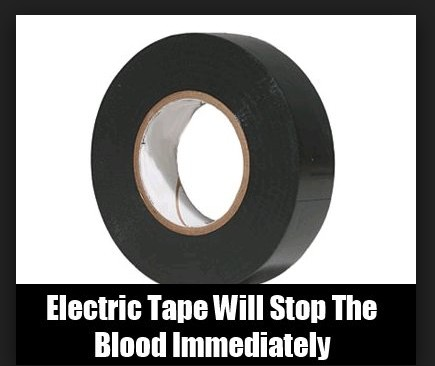 Use Of electric tape To Stop Bleeding