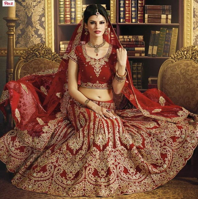 bridal lehenga in mahroon color