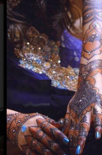 Shades of mehndi for bridal