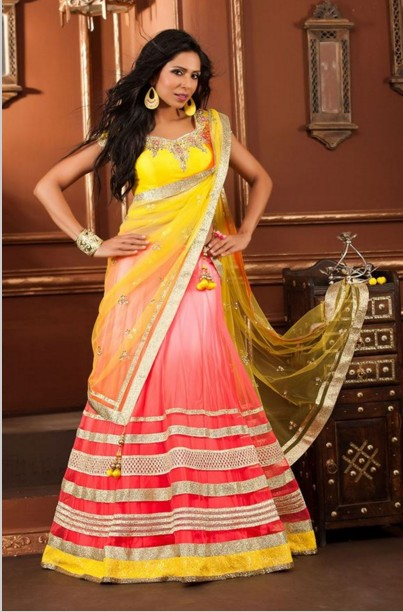 yellow dulhan wear