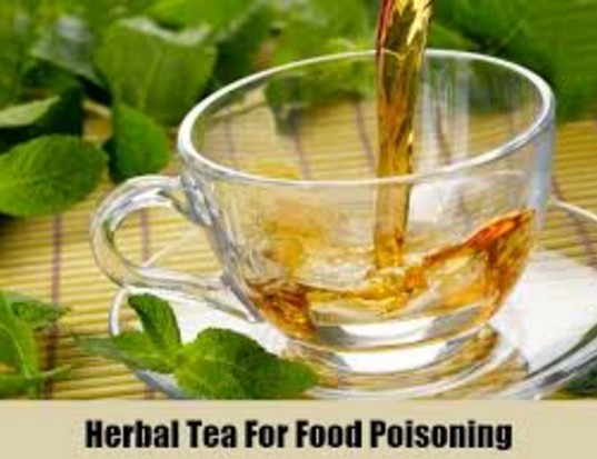 Herbal tea to cure food poisoning
