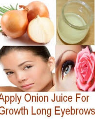 Onion Juice For Thicker Eyebrows