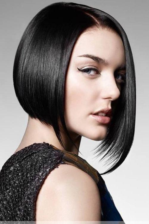 A- line bob cut hairstyle