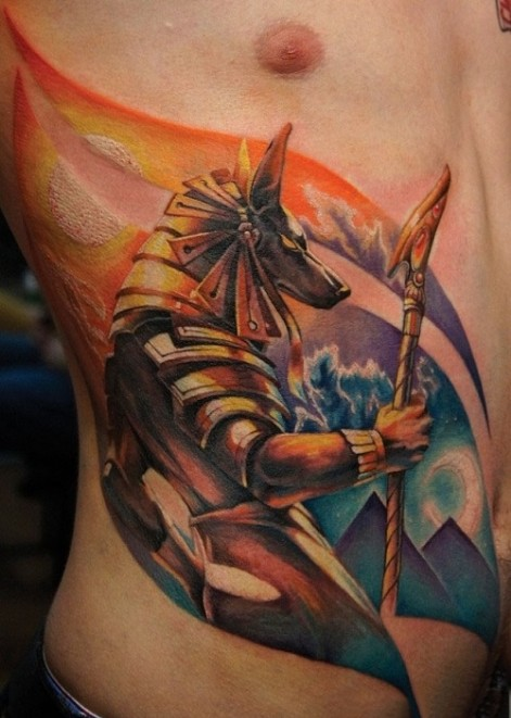 anubis egyptian tatttoo