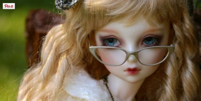 cute barbie images with spectacles