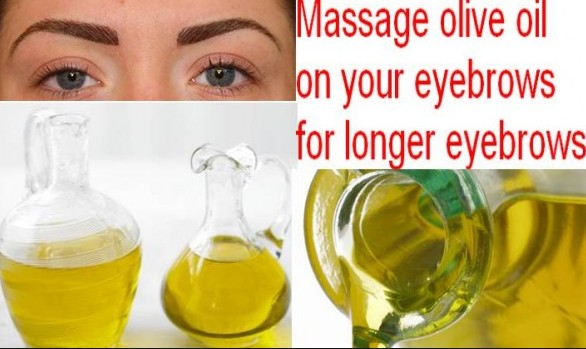 olive oil for thicker eyebrows