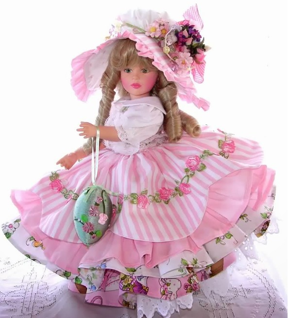 lovely image of the barbie doll in pink