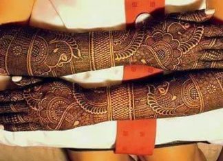 dulhan mehndi design for wedding