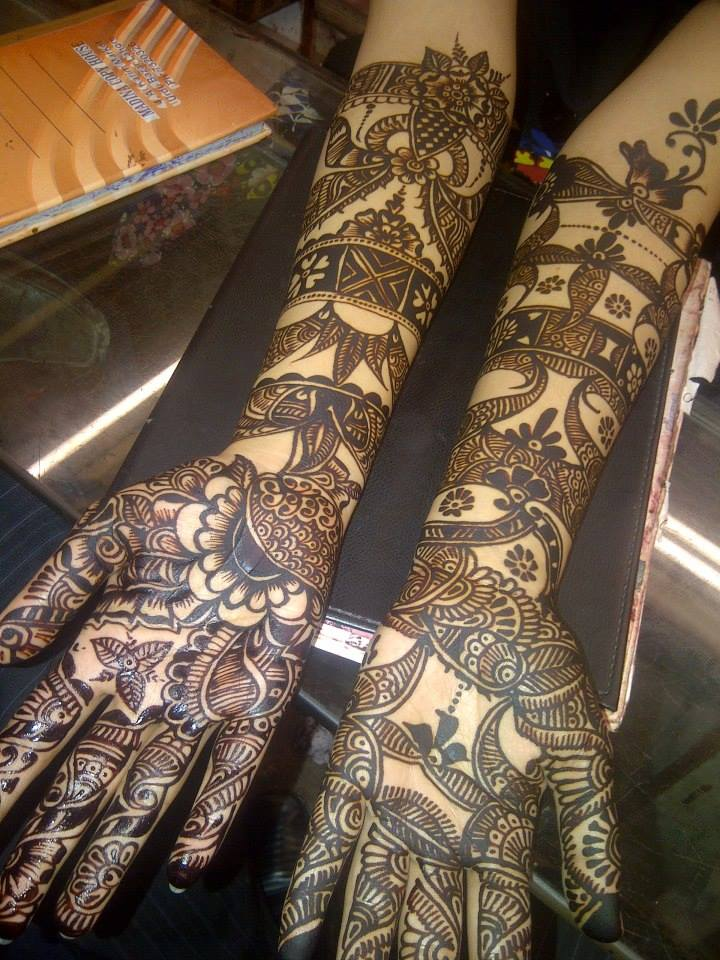 how to draw mehndi designs on hand step by step