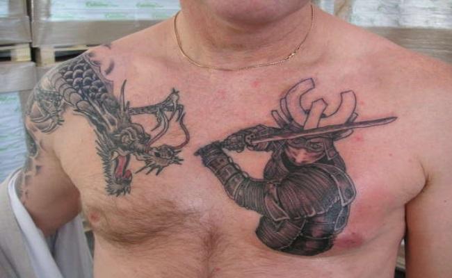skull samurai tattoo