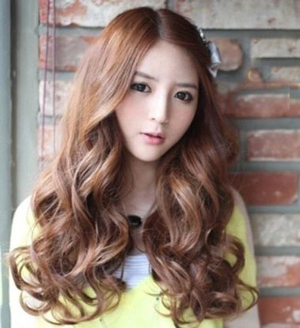 korean style curly hair 30 amazing haircuts for amp faces to look thin 4551
