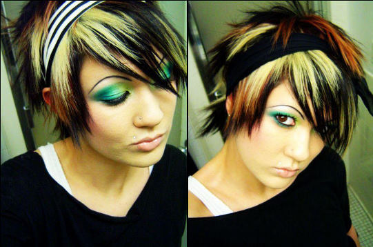 band emo hairstyle