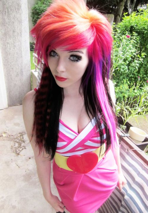 Funny emo hairstyle