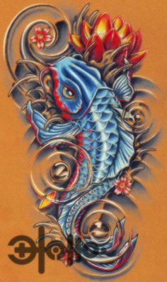 japanese pisces tattoo design