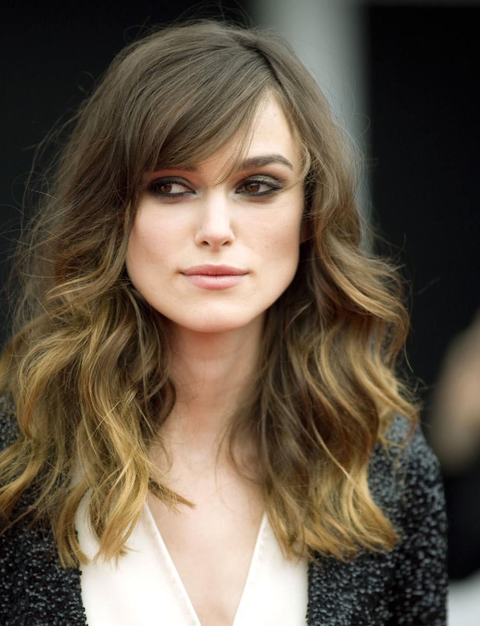 lose curl hairstyle for big fore head