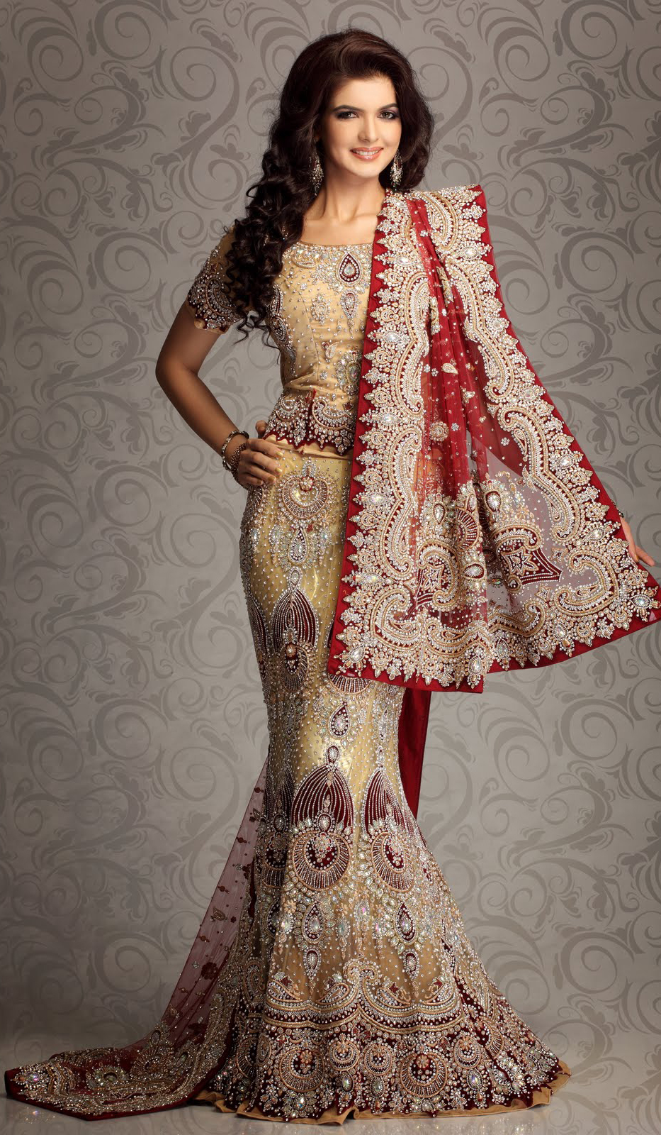 stylish lehenga by manish malhotra