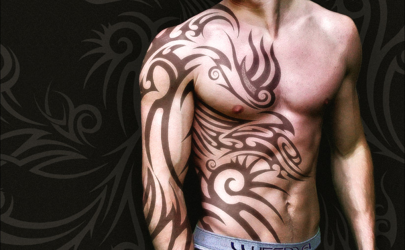 tribal arabic tattoo design