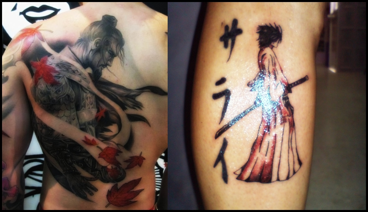 wonderful sketch of the samurai tattoo