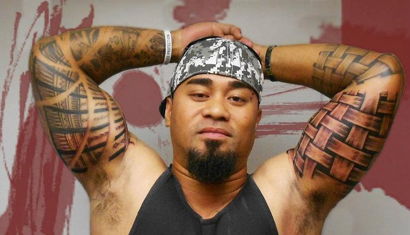 biceps maori tattoo