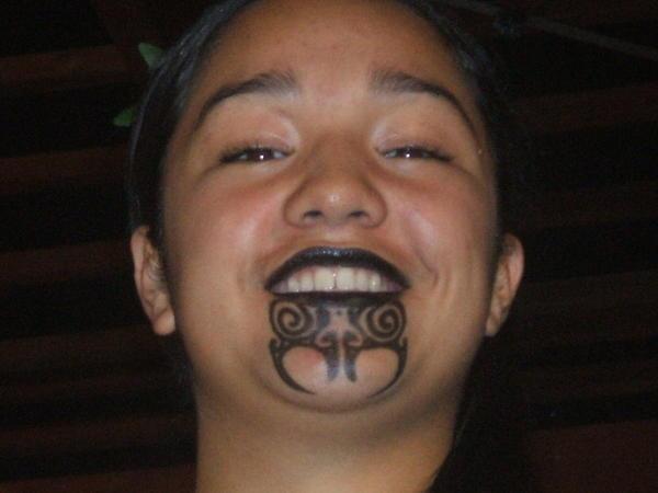 french beared maori tattoo