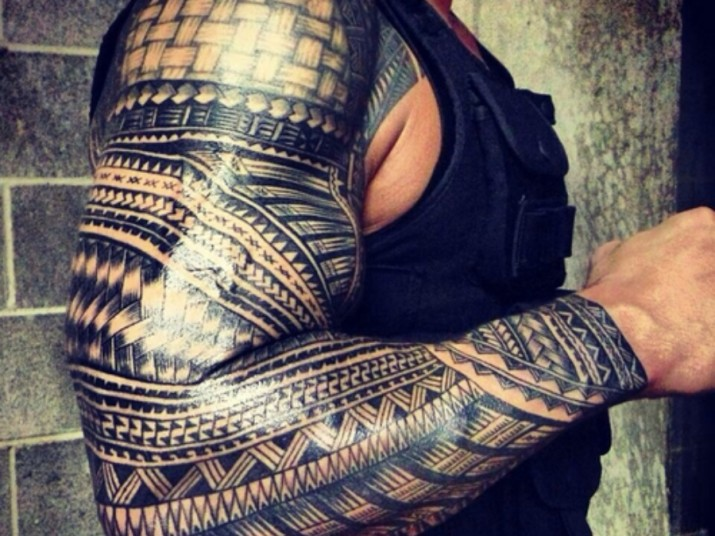 polynesian maori tattoo for females