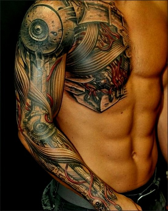 chest hand maori tattoo design
