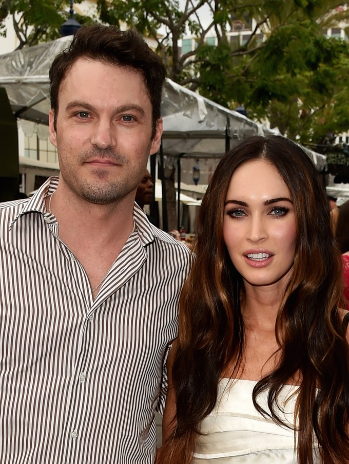 Megan Fox Without Makeup with husband