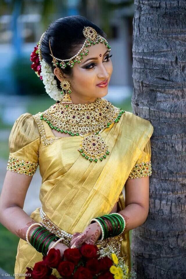 yellow saree with border blouse