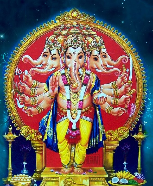 pretty image of the god ganesh