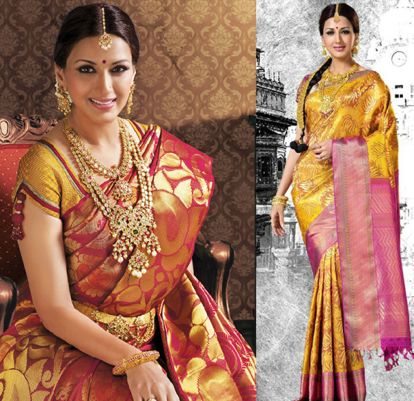 smart blouse design for silk saree image