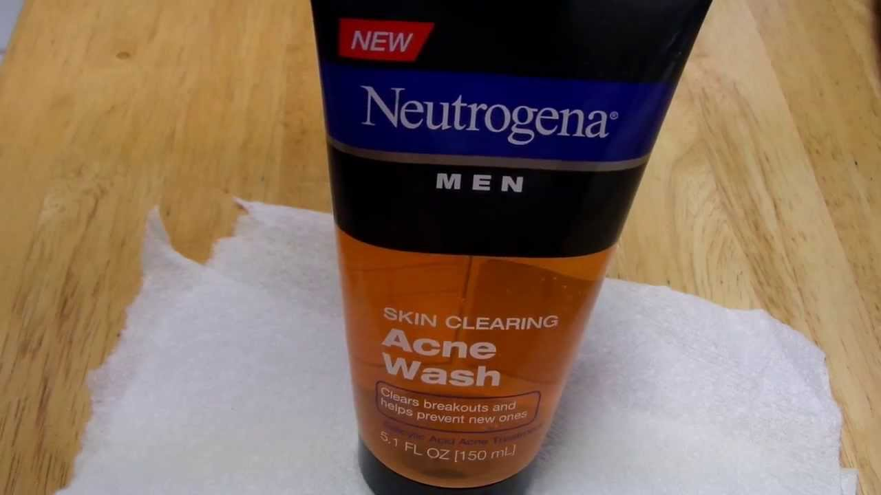 neutragena men skin clearing acne face wash