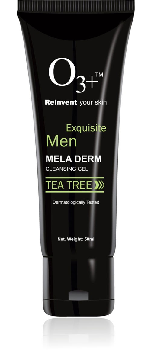 o3 men tea tree mela derm cleansing face wash