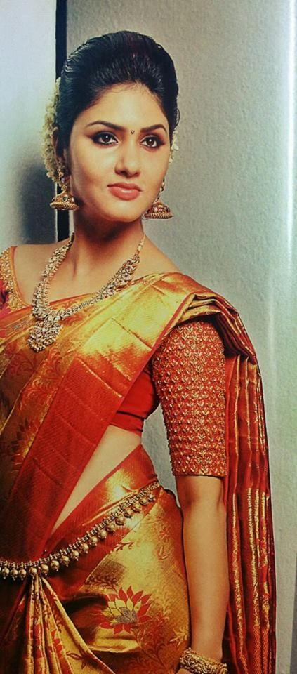 sleevfe work for silk saree