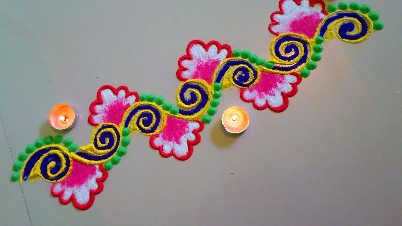 simple and easy rangoli design