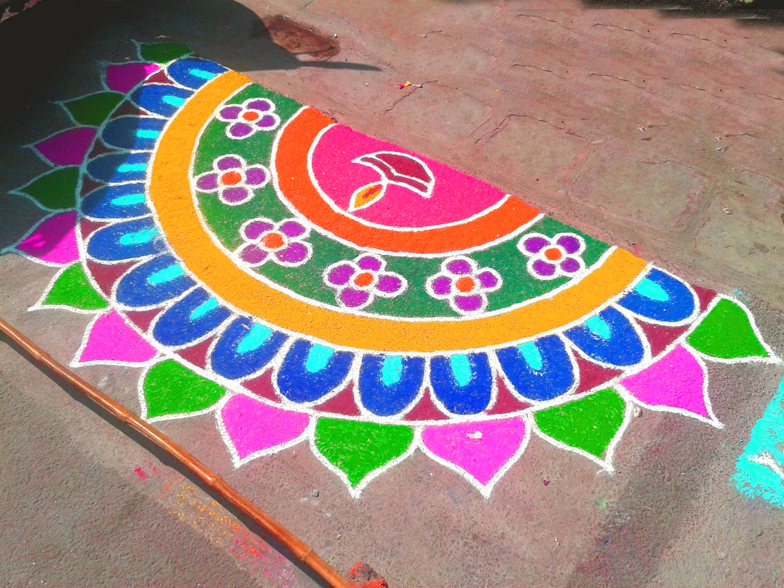 entrance rangoli design